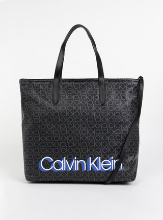 Čierna vzorovaná kabelka Calvin Klein Jeans