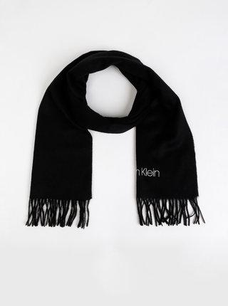 Čierny vlnený šál Calvin Klein Jeans