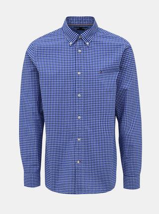 Modrá pánska kockovaná regular fit košeľa Tommy Hilfiger Classic