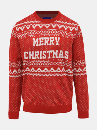 Červený sveter s vianočným motívom Jack & Jones Jingle