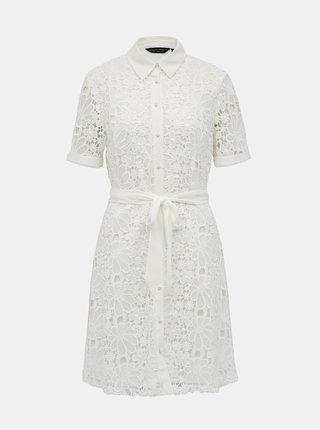 Biele krajkové košeľové šaty Dorothy Perkins