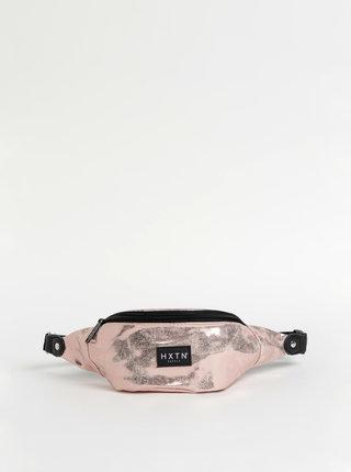 Růžová dámská metalická ledvinka HXTN Supply One