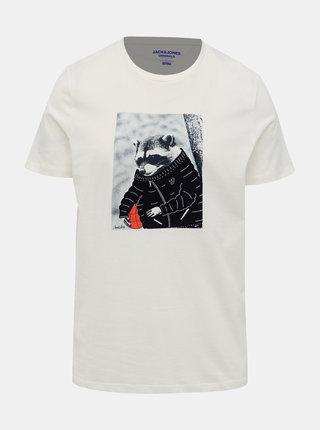 Biele tričko Jack & Jones Olle