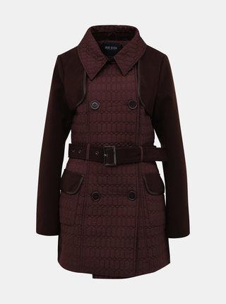 Vínový dámsky prešívaný zimný kabát Blue Seven