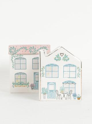 Krémový kvetináč v tvare domu Disaster