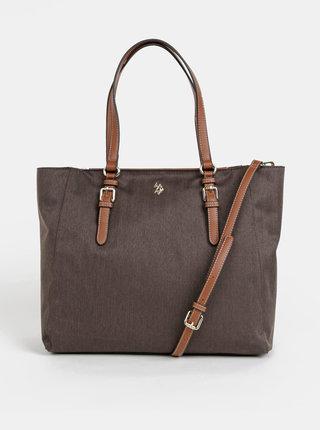 Hnedá kabelka U.S. Polo Assn. Houston