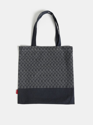 Čierna plátená vzorovaná taška Tranquillo Leif