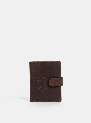 Tmavohnedá pánska kožená peňaženka U.S. Polo Assn. Tulsa