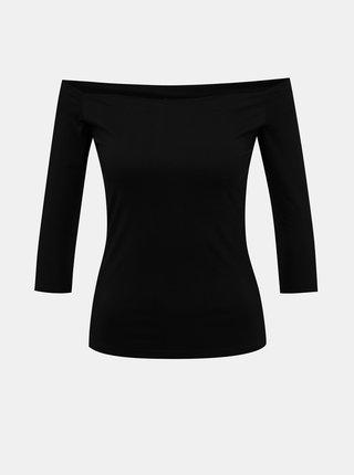 Čierne tričko s odhalenými ramenami Dolly & Dotty Gloria