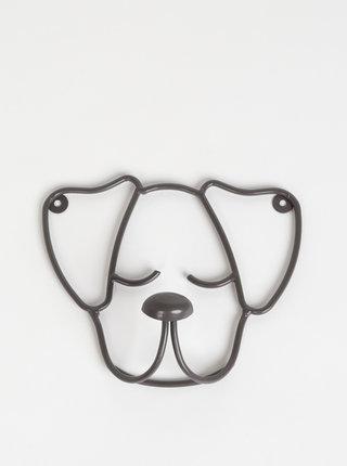 Tmavě šedý věšák ve tvaru psa Tranquillo Snoop