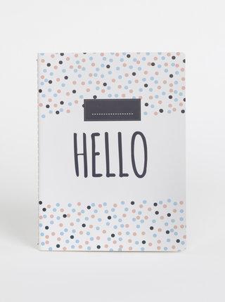 Bílý puntíkovaný zápisník Tranquillo Adele