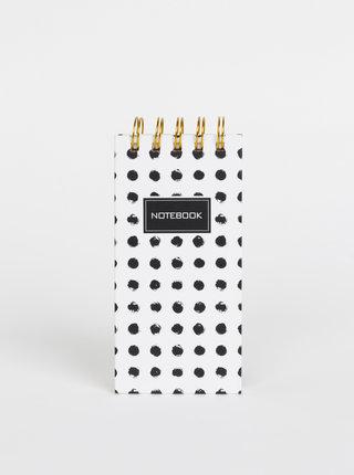 Bílý puntíkovaný zápisník Tranquillo Ringolf
