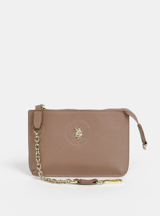 Béžová mini kabelka U.S. Polo Assn. Jones