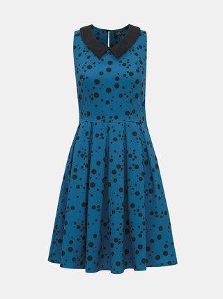 Modré puntíkované šaty Dolly & Dotty Anette