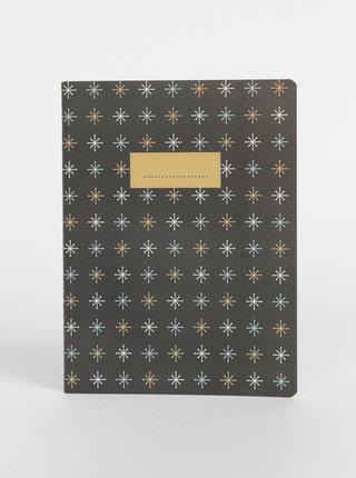 Černý vzorovaný zápisník Tranquillo Flake