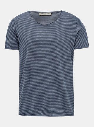 Modré pruhované basic tričko Selected Homme New merce