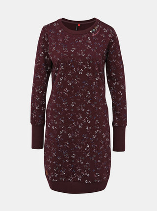 Fialové vzorované mikinové šaty Ragwear Menita Flowers