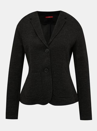 Čierne dámske žíhané sako s.Oliver