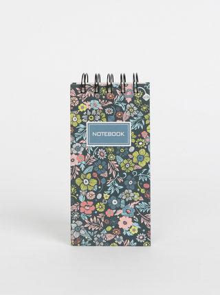 Čierny kvetovaný zápisník Tranquillo Yoko