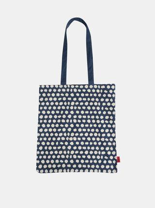 Modrá vzorovaná plátená taška Tranquillo Dots