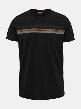 Čierne pánske tričko s potlačou Ragwear Hake
