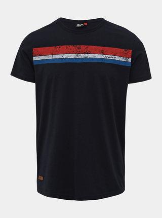 Tmavomodré pánske tričko s potlačou Ragwear Hake