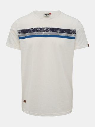 Biele pánske tričko s potlačou Ragwear Hake