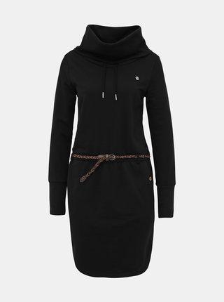 Čierne mikinové šaty Ragwear Laurra