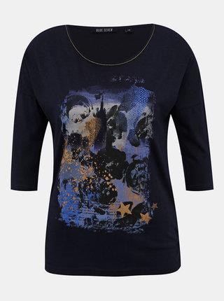 Tmavě modré dámské tričko Blue Seven