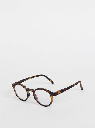 Hnědé vzorované ochranné brýle k PC IZIPIZI #H