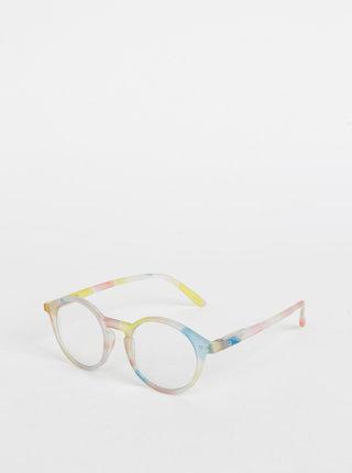 Modro-žluté vzorované ochranné brýle k PC IZIPIZI #D