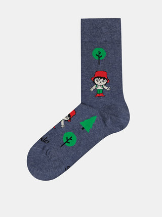 Tmavomodré vzorované ponožky Fusakle Rumcajz