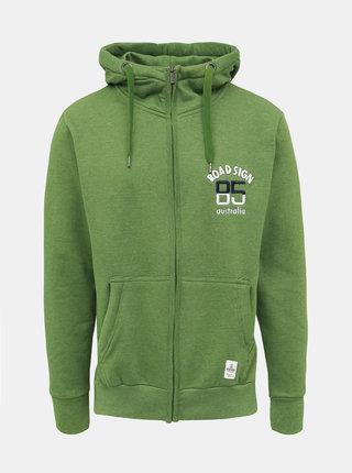 Zelená pánska mikina Roadsign