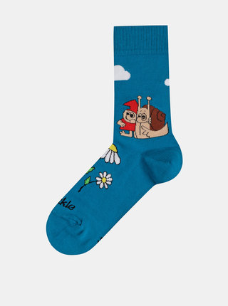 Tyrkysové vzorované ponožky Fusakle Matěj a skřítek