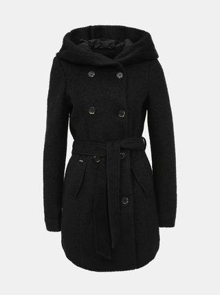 Černý kabát s příměsí vlny VERO MODA Munich