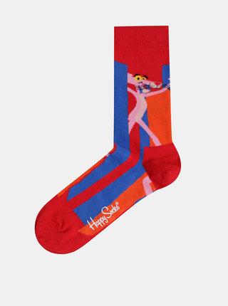 Červené vzorované ponožky Happy Socks Pink Panter