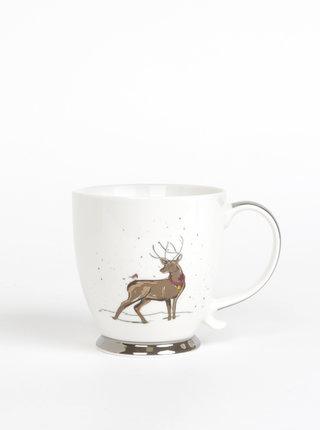 Biely hrnček s vianočným motívom CGB 400 ml