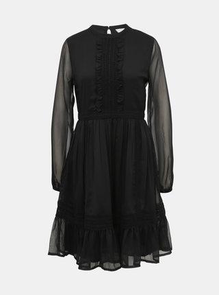 Čierne šaty s krajkou VILA Haldi