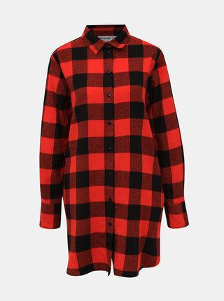 Černo-červená kostkovaná košile Noisy May Erik