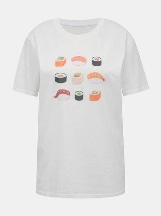 Biele dámske tričko s potlačou ZOOT Original Sushi