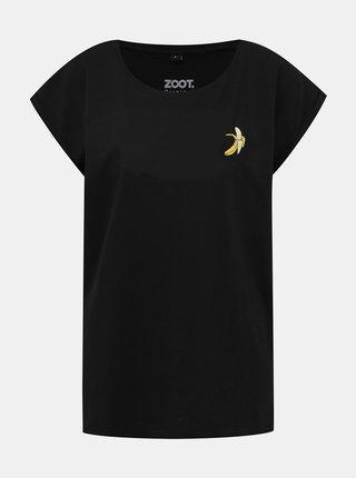 Čierne dámske tričko s potlačou ZOOT Original Banán