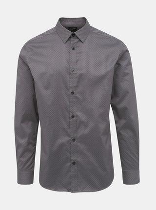 Šedá puntíkovaná slim fit košile ONLY & SONS Alves