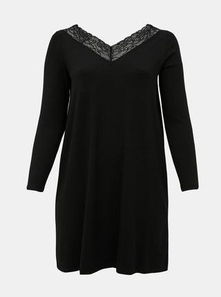 Černé šaty s krajkou ONLY CARMAKOMA Alberthe