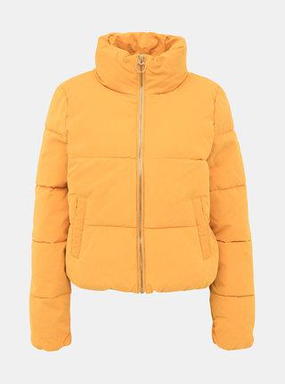 Hořčicová prošívaná zimní bunda ONLY Dina