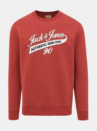 Červená mikina Jack & Jones Logo