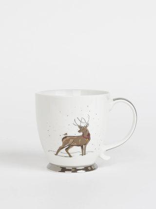 Bílý hrneček s vánočním motivem CGB 400 ml