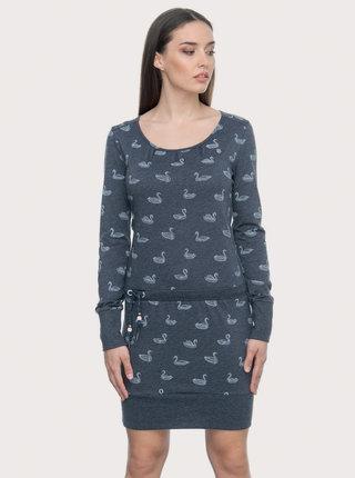 Tmavě modré vzorované šaty Ragwear Alexa Swans