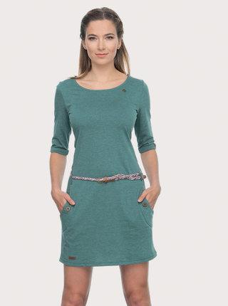 Zelené šaty s páskem Ragwear Tanya