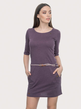 Fialové šaty s opaskom Ragwear Tanya