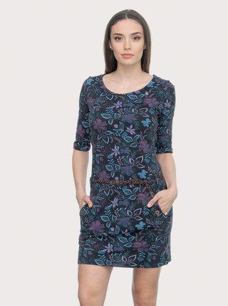 Fialovo-modré květované šaty Ragwear Tanya